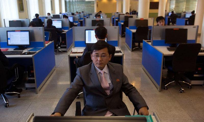 Students at Kim Il Sung University in Pyongyang, North Korea. — AP Photo