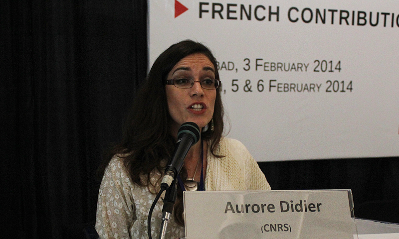 Director of the French Archaeological Mission in Makran and Lower Indus, Aurore Didier. –Photo Suhail Yusuf/Dawn.com