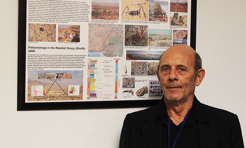 Eminent French paleontologist, Jean-Loup Welcomme. –Photo Suhail Yusuf/Dawn.com