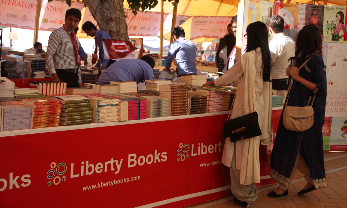 Liberty stall at the Karachi Literature Festival. – Photo by Aliraza Khatri