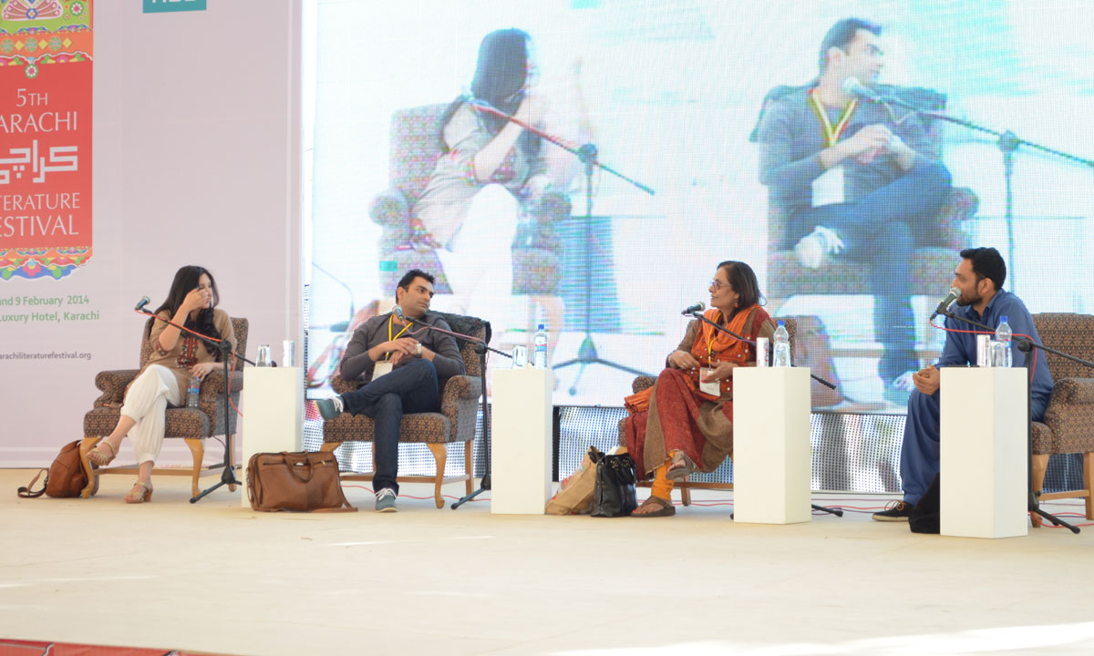 From L to R: Zeb Bangash, Sarmad Khoosat, Tina Sani and Ali Sethi (Moderator). – Photo by Quratulain Choudhry