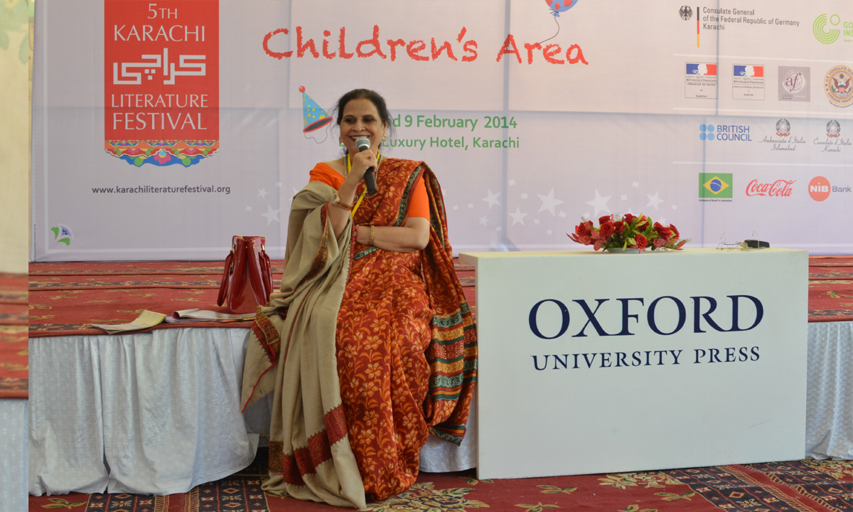 """Amra Alam from the session """"Storytelling by Amra Alam"""". – Photo by Quratulain Choudhry"""