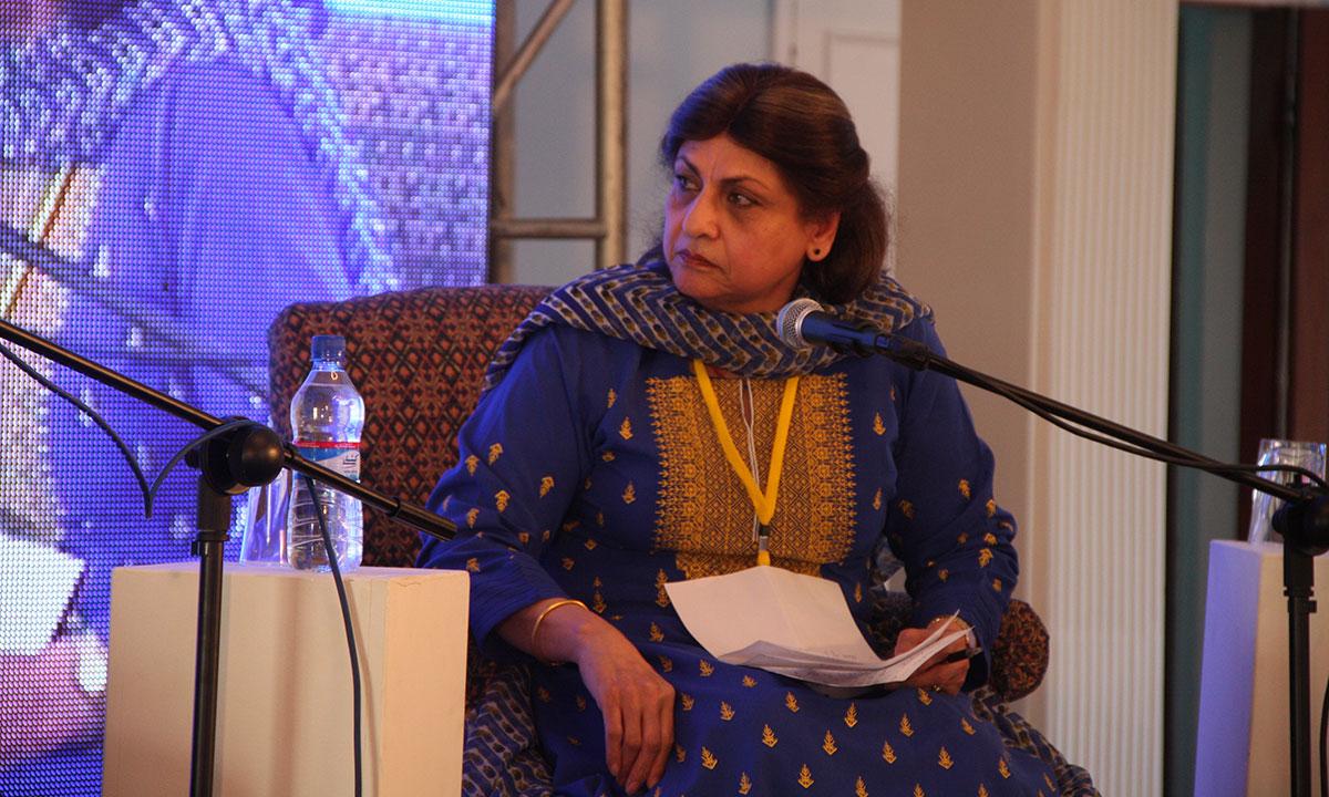Moderator, Sarwat Mohiuddin. – Photo by Aliraza Khatri