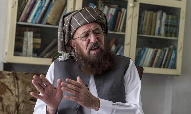 Maulana Samiul Haq, the coordinator of the three-member peace talks committee nominated by the Tehreek-i-Taliban Pakistan (TTP).—File Photo