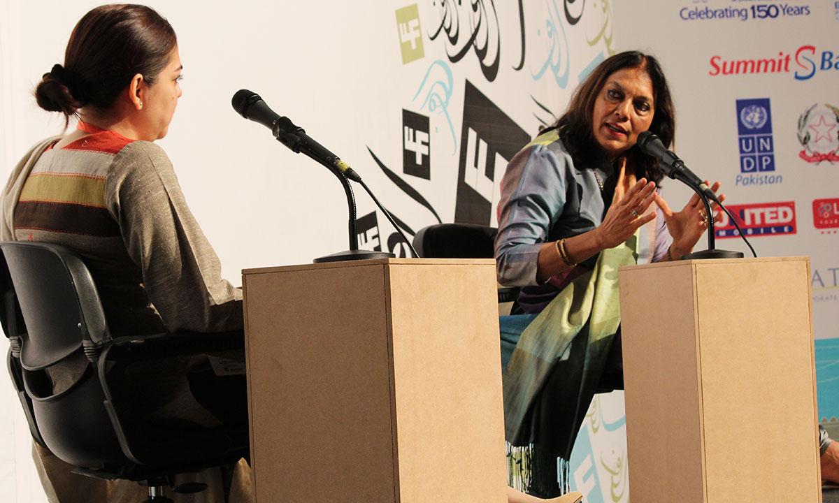 Mira Nair (R) with Mira Hashmi. – Photo by Asif Umar