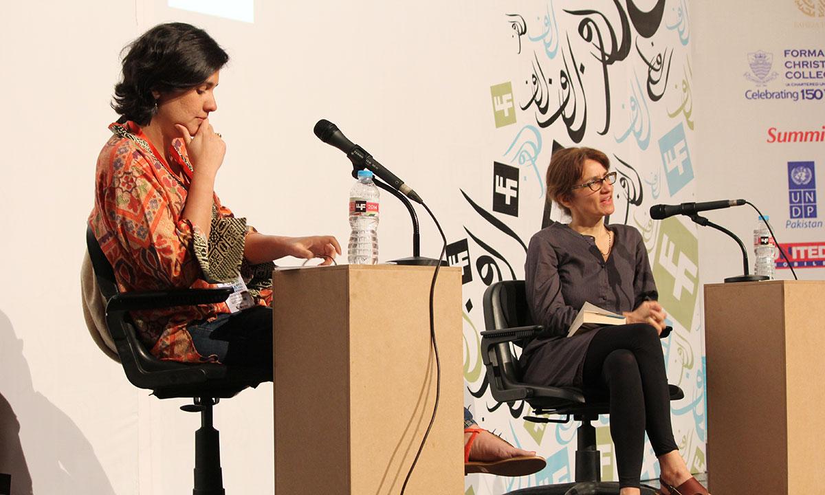 Rosie Dastgir (R) with Kamila Shamsie. –Photo by Asif Umar