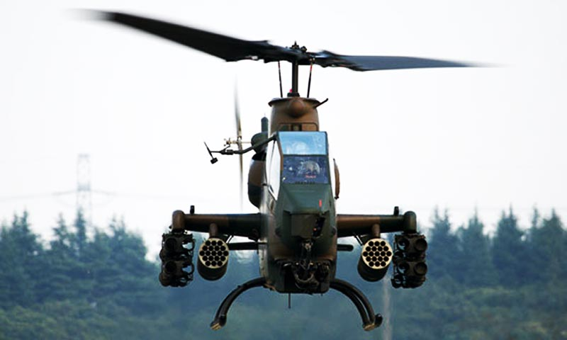 Officials said the military launched the attack after confirming reports about the presence of militants in Thall village of Hangu. —Photo: ISPR