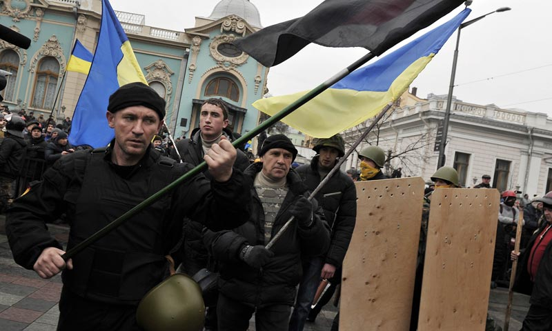 Ukraine protesters seize president office; rival 'free under law'