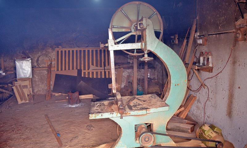 A carpenter's workshop near Khota High School.— Photo by Writer