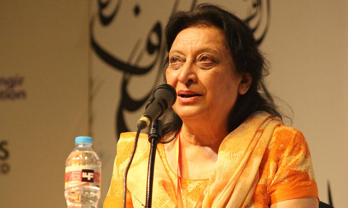 Fahmida Riaz. – Photo by Hamza Cheema