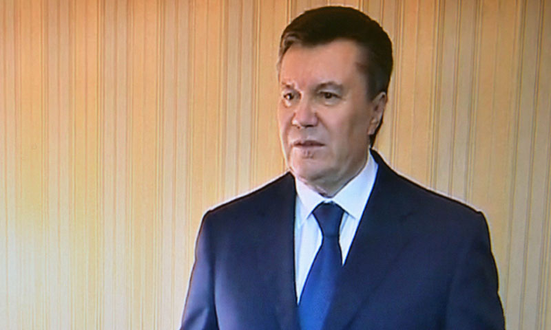 Arrest warrant issued for Ukraine's Yanukovych