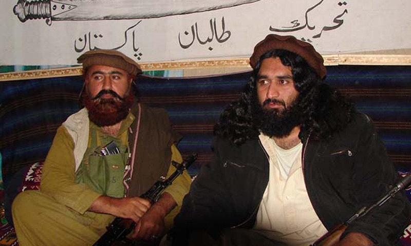 Mast Gul (left) is seen with Mufti Hassan Swati in this file photo