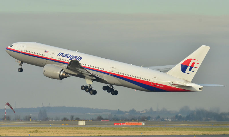 This photo provided by Laurent Errera taken Dec 26, 2011 shows the Malaysia Airlines Boeing 777-200ER that disappeared from air traffic control screens Saturday. — AP