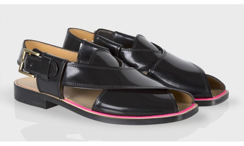 The Peshawari chappal that Paul Smith were selling, without crediting the design to Pakistan. Photo from Paulsmith.co.uk
