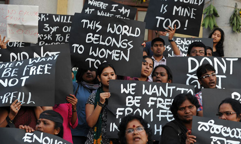 The brutality of the Delhi rape attack, and her determination to survive so she could identify her attackers to police, sparked large-scale angry street protests as well as soul-searching about India's treatment of women.    — File photo by AFP