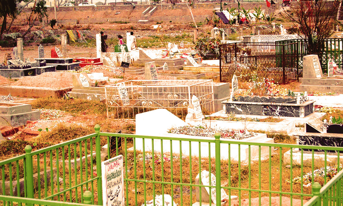 A congested graveyard in Karachi. - Photo by the writer