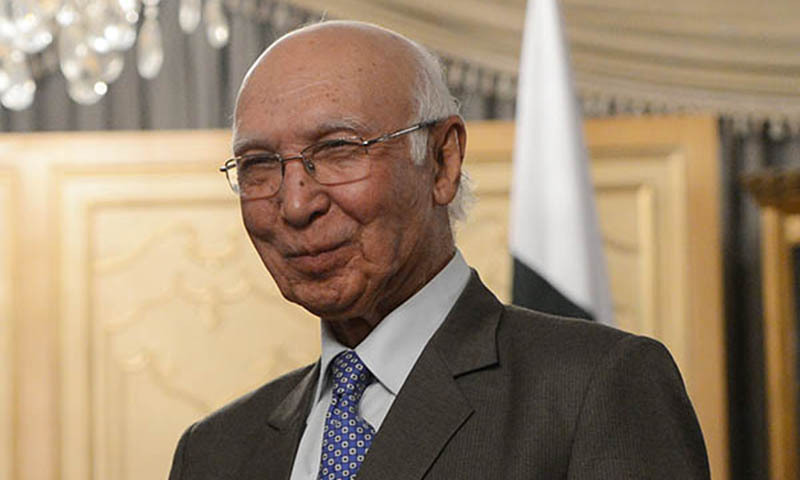 Pakistan won't send arms to Syria: Sartaj Aziz