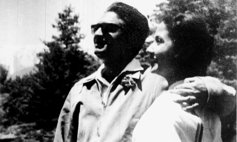 The couple during the initial years of their relationship. The photo is from the family's private collection.
