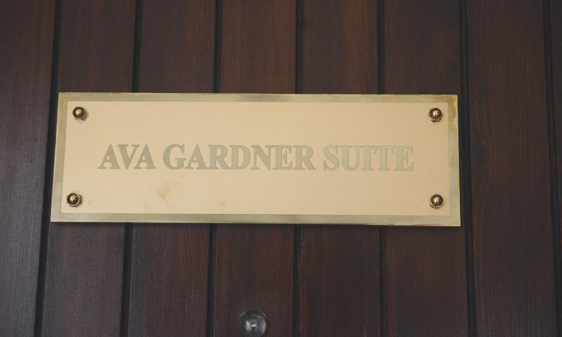 Suites named after the famous personalities who stayed here.