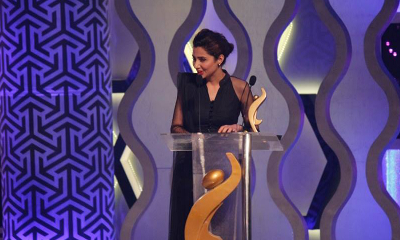 Mahira at the HUM TV Awards - Photo from HUM Interactive Department/Facebook