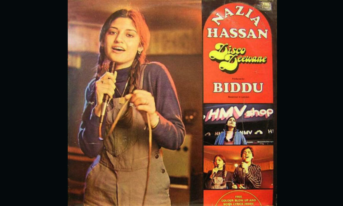 عالمی سطح پر نازیہ حسن کو اس وقت شہرت ملی جب انہوں نے ہندوستانی موسیقار بدو کی موسیقی میں فلم قربانی کا مشہور نغمہ 'آپ جیسا کوئی میری زندگی' میں آئے ریکارڈ کروایا، اس نغمے نے مقبولیت کے نئے ریکارڈ قائم کئے اور اس پر انہیں ہندوستان کا مشہور فلم فیئر ایوارڈ بھی ملا۔ وہ یہ ایوارڈ حاصل کرنے والی پہلی پاکستانی شخصیت تھیں۔