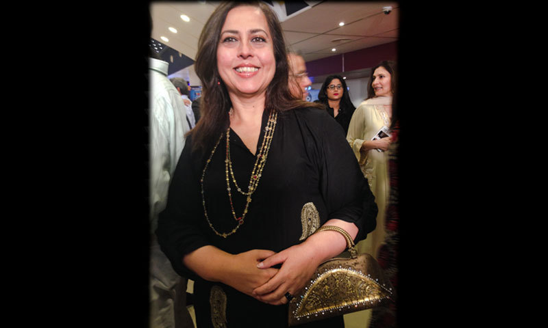 Ayesha Tammy Haq looked dazzling — accessories by Amber Sami. – Photo by Madeeha Syed
