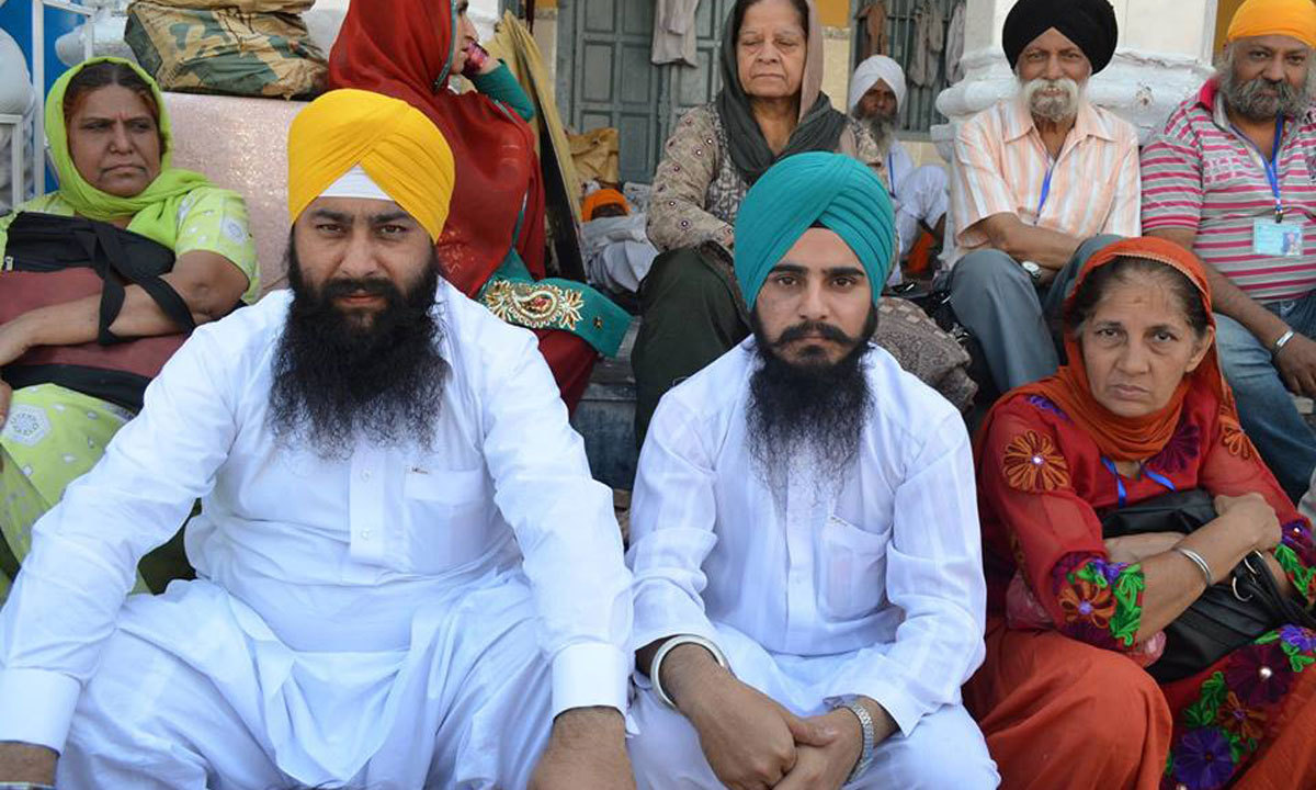Two sikh friends from peshawar reach punja sahib to participate in besakhi festival.