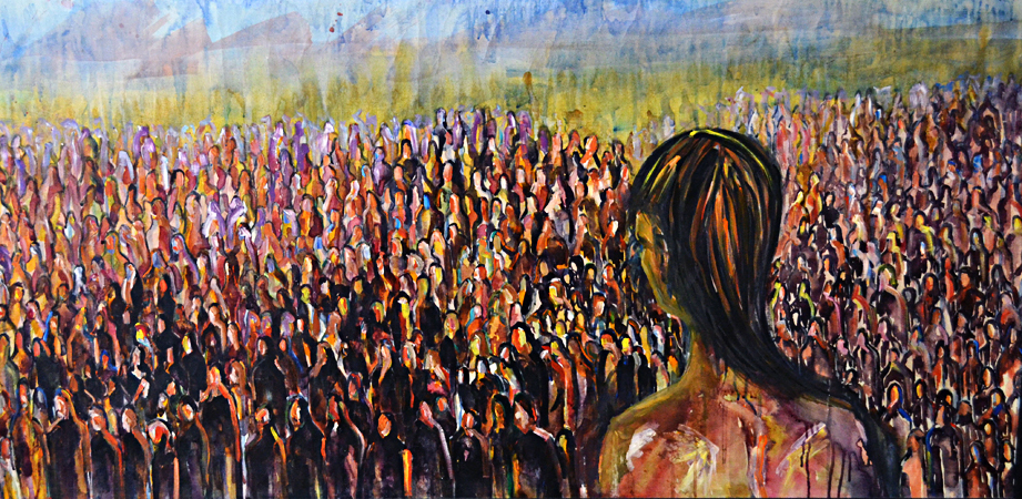"""The crowd"" by Shazia Batool"