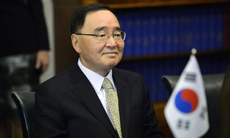 South Korean PM Chung Hongwon. —Reuters/File Photo