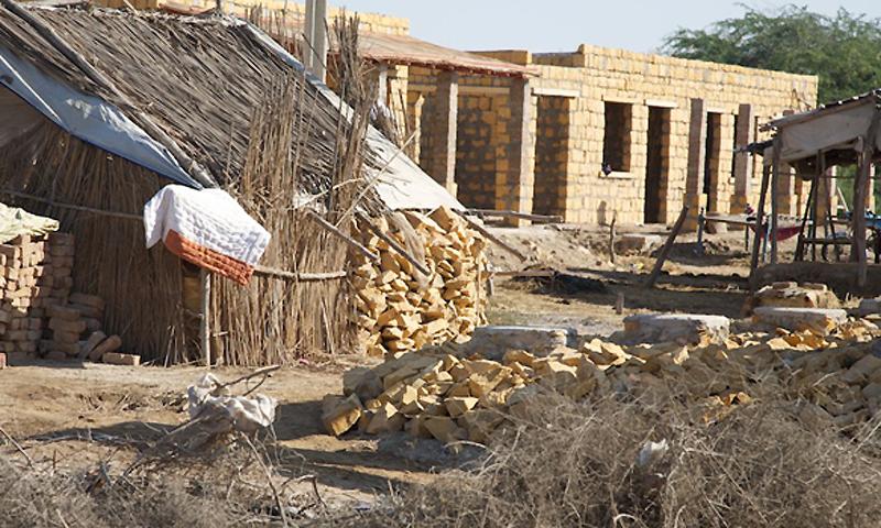 Rebuilding in Thatta - Photo by Vaqar Ahmed