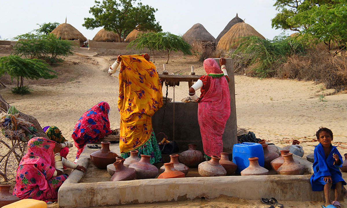 Water scarcity is the major issue of Tharparkar desert. – Photo by Emmanuel Guddu