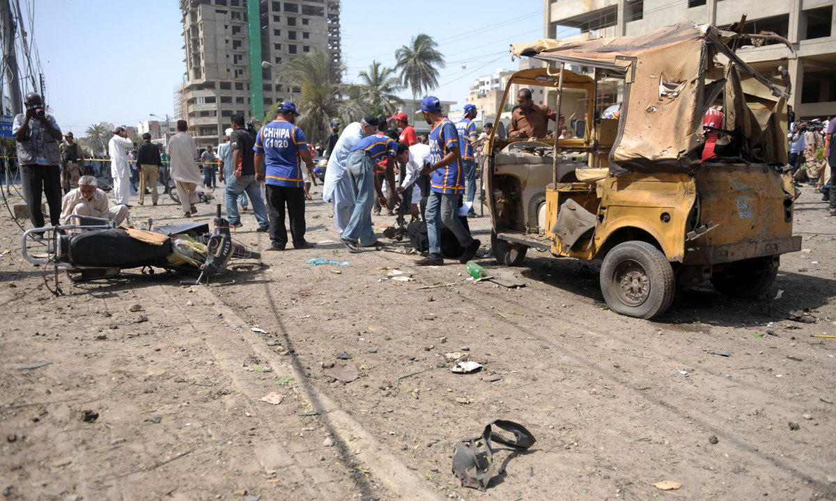 bomb blast in karachi Karachi: the wall of a government-run girls' school and two vehicles were  damaged in a bomb blast here on sunday, police said they said.