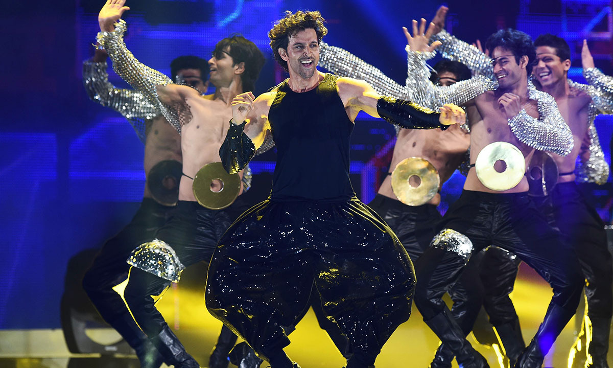 Bollywood actor Hrithik Roshan performs on stage during the fourth and final day of the 15th International Indian Film Academy (IIFA) Awards at the Raymond James Stadium in Tampa, Florida, April 27, 2014. — Photo by AFP