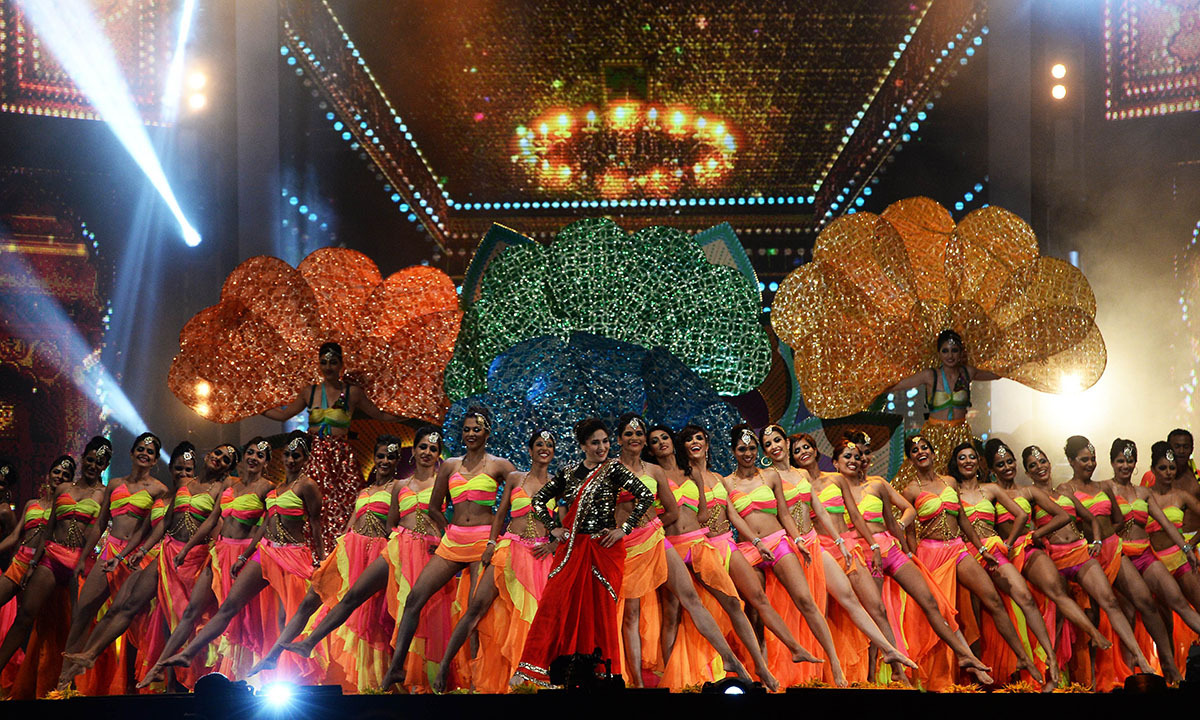 Bollywood actress Madhuri Dixit-Nene performs on stage during the fourth and final day of the 15th International Indian Film Academy (IIFA) Awards. — Photo by AFP