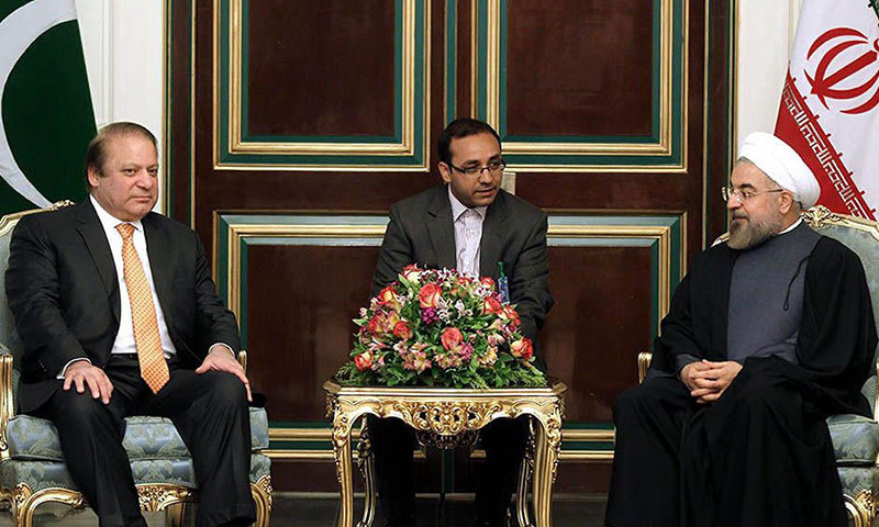 A handout picture released by the official website of the Iranian president show Iranian President Hassan Rowhani meeting with Pakistan's Prime Minister Nawaz Sharif in Tehran on May 11, 2014.  – AFP Photo