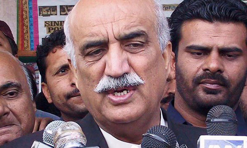 ECP members should immediately step down after accusations of rigging by Imran Khan, says Opposition leader Khurshid Shah.—File Photo