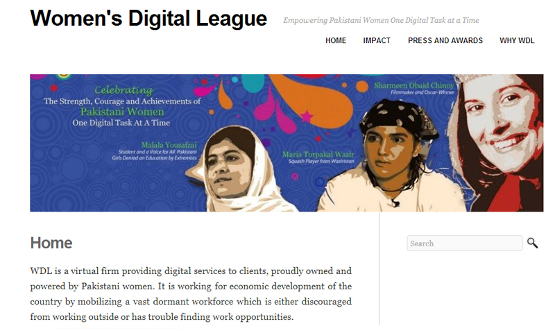 screenshot of womensdigitalleague.com pictured.
