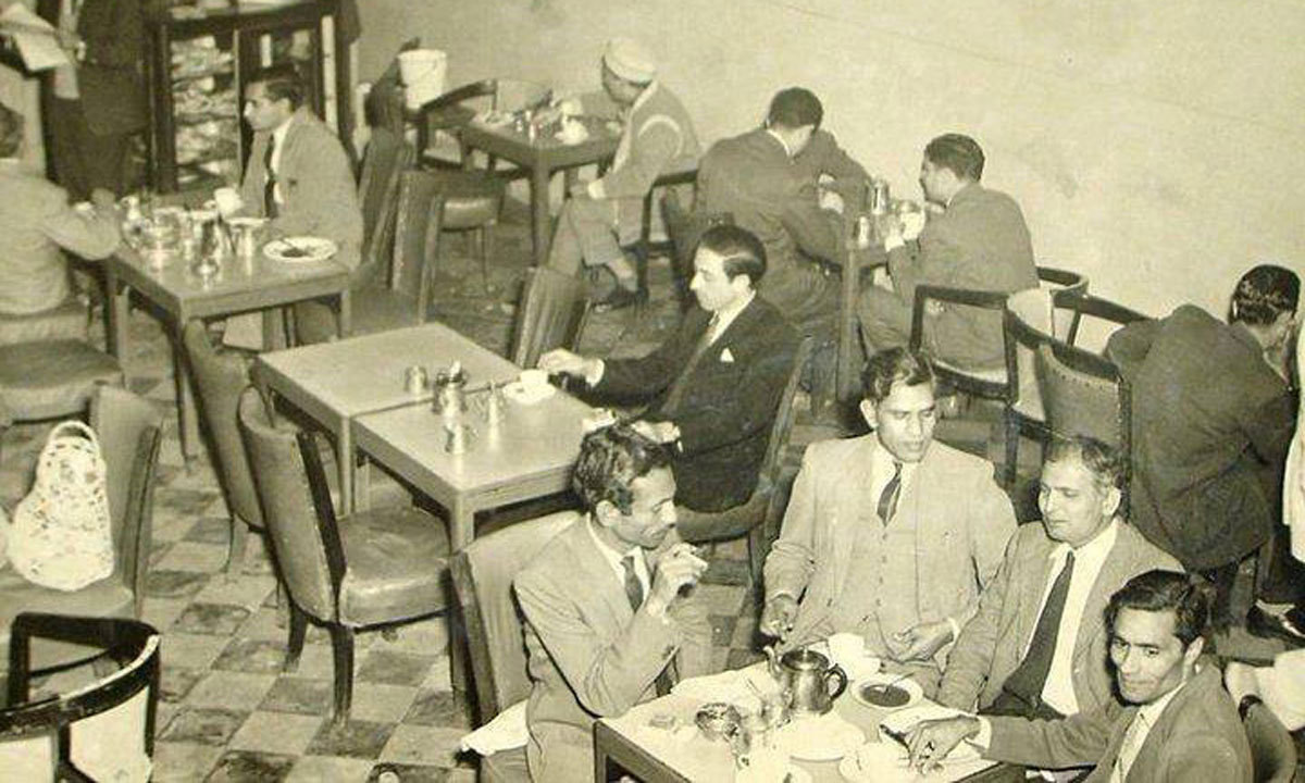 Patron gathered at the Pak Tea Hous during its former glory days.