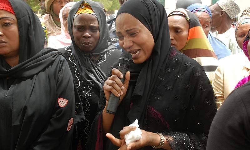 14 اپریل کی رات کو بوکو حرام نامی نفرت انگیز تنظیم نے چیبوک کے ایک اسکول پر حملہ کیا جو نائیجیریا میں بورنو کے شمال- مشرق میں واقع ہے- انھوں نے اسکولوں میں پڑھنے والی تقریباً 300 لڑکیوں کا اغوا کیا جن میں سے کچھ لڑکیاں بھاگ نکلنے میں کامیاب ہوگئیں-