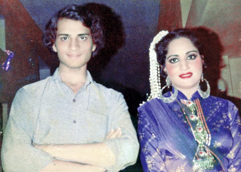 """Even today, Rani remains a legend in her own right with her dances, her ada and her raised eyebrows. Once a heroine becomes a mum, her career slumps but in her case it was the exact opposite,"" says Lollywood archiver Guddu, seen here with Rani during the shooting of the film, Thug Badshah (1985), at Bari Studios, Lahore"