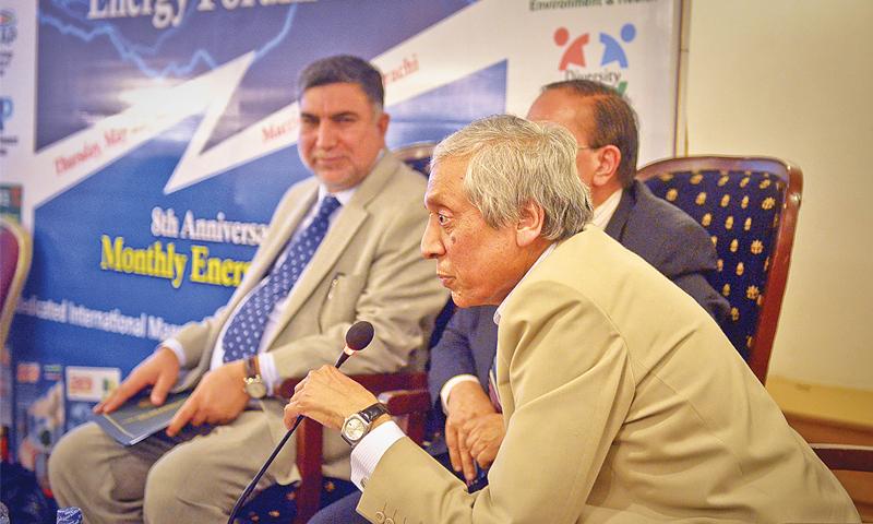 PAEC chairman Dr Ansar Parvez speaks at Energy Forum on Thursday.—White Star