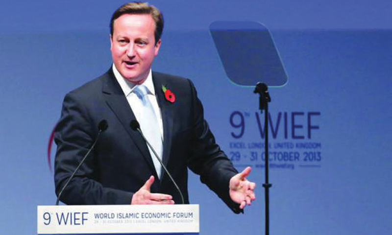 LONDON: Prime Minister David Cameron made a bid last year to position London as a leading hub for Islamic finance, announcing plans for Britain to become the first western country to issue a sovereign sukuk.—Reuters file photo