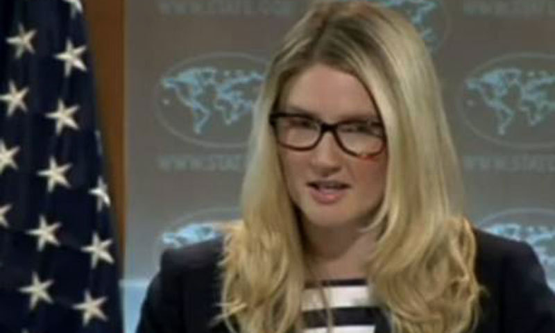 Deputy Spokesperson at the State Department Marie Harf. — File photo