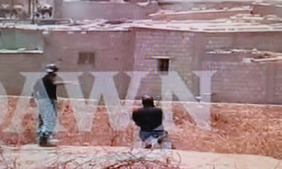 Screen shot of footage shows ASF personnel taking positions near ASF Academy.