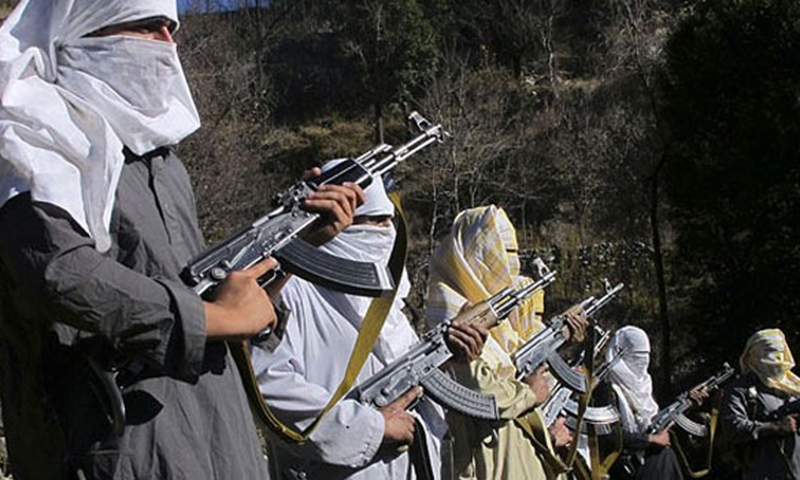 The page included photographs of 10 black-turbaned fighters wearing green tunics and white trainers while carrying assault rifles, in what appeared to be a snowy mountainous region. - File photo