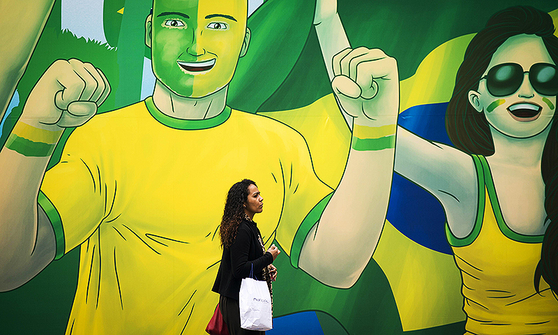 Close to 500 Pakistani fans are travelling to Brazil to witness the biggest sporting carnival. -Photo by AFP