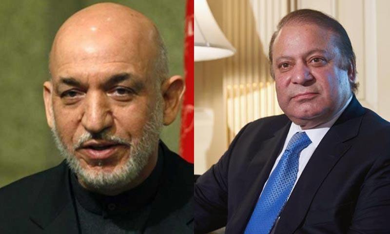 Afghan President Hamid Karzai and Pakistan's Prime MInister Nawaz Sharif — File photo