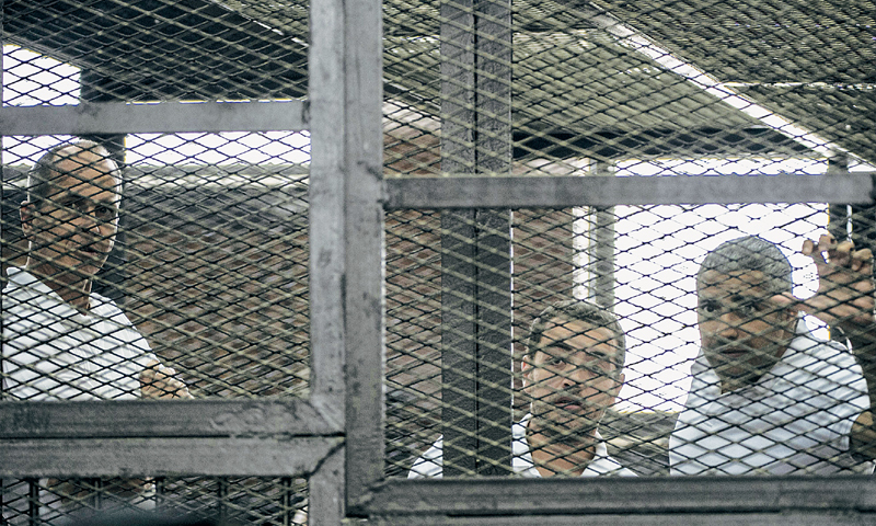 Al Jazeera journalists jailed in Egypt