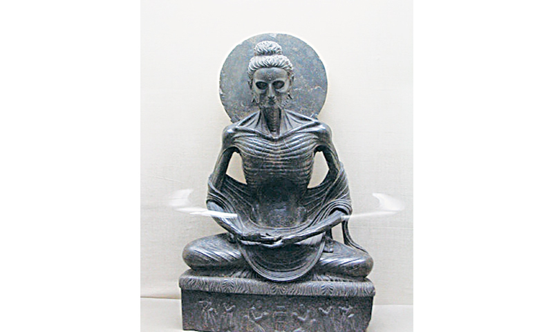 'Fasting Buddha' at Lahore Museum — File photo
