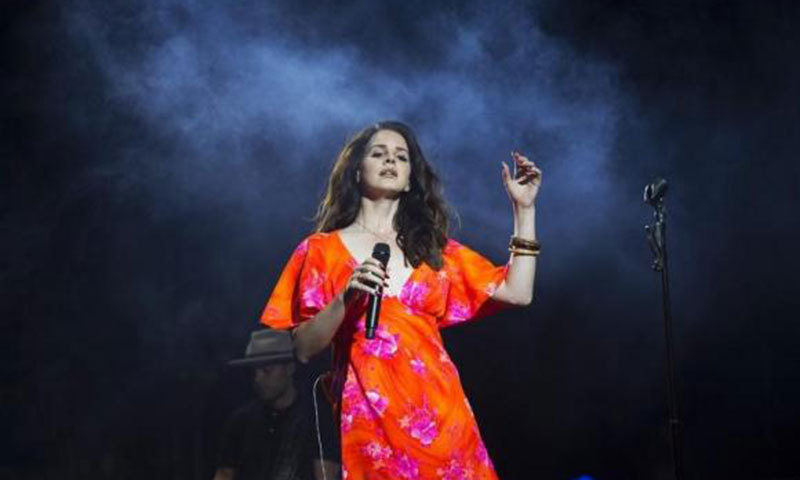 Singer Lana Del Rey performs at the Coachella Valley Music and Arts Festival in Indio, California. - Photo by Reuters